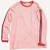 ROOKIE ロングTシャツ(pink)